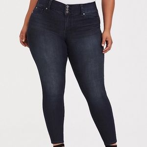 Torrid Jeans Tall Dark Wash Skinny Jeggings